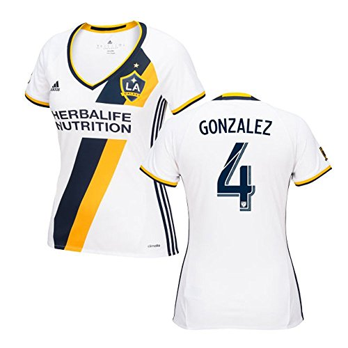 流すジャニス絞るAdidas GONZALEZ #4 LA Galaxy Home Women's Jersey 2016 (Authentic name & number) /サッカーユニフォーム ロサンゼルス?ギャラクシー ホーム用 ゴンサレス レディース向け