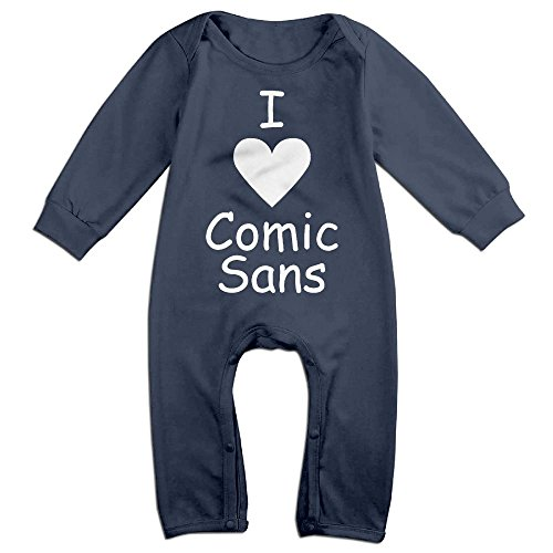 [Infants I Love Sans Long Sleeve Bodysuit Baby Onesie Baby Climbing Clothes Outfits Jumpsuit For 0-24 Months Navy 6 M] (Like A Boss Fish Costume)