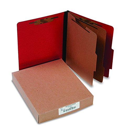 ACCO 15669 ACCO Presstex Colorlife Classification Folders, Letter, 6-Section, -