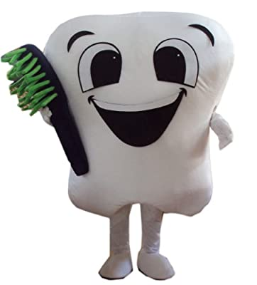 Dealfashion New Professional Style Tooth Mascot Costume Fancy Dress Adult Size