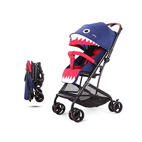 Hapair Umbrella Stroller, Shark Design, Lightweight and Compact Fold, Blue