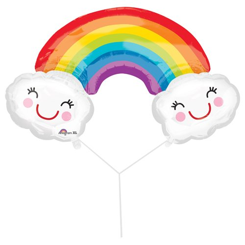 Anagram 33815 Rainbow With Clouds Foil Balloon, 37