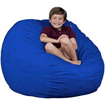 fugu Bean Bag Chair Brand Royal Blue - Medium 3u0027  sc 1 st  Amazon.com & Amazon.com: FUGU Bean Bag Chair Foam Filled Double Layered ...