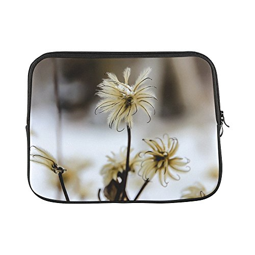 "Price comparison product image Design Custom Flower Winter Snow Flora Blossom Bloom Sleeve Soft Laptop Case Bag Pouch Skin For Macbook Air 11""(2 Sides)"