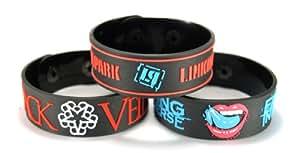 Black Veil Brides And Falling In Reverse And Linkin Park New 3Pcs(3X) Bracelet Wristband B3Filp