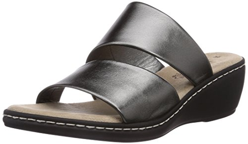 Jana 27205 Damen Offene Sandalen mit Keilabsatz Silber (Steel)