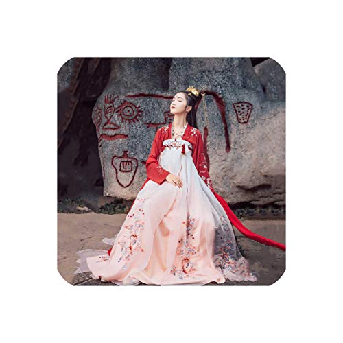 Dress Koi Traditional Chinese Clothing for Women Fairy Design Style Daily Dance,Hnafu,XL -