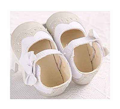 New Bowknot White Baby Shoes Toddler Infant Soft Soled Baby First Walkers Shoes Girl Baby Indoor Princess Shoes Dress Footwear