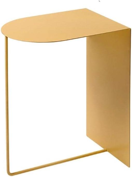 XWF Wohnzimmer-Beistelltische Moderne Endtisch Indoor Snack Couchtisch Leichte Metalltisch-Cocktail-Tabelle mit Aufbewahrungs-offenem Regal for... 1