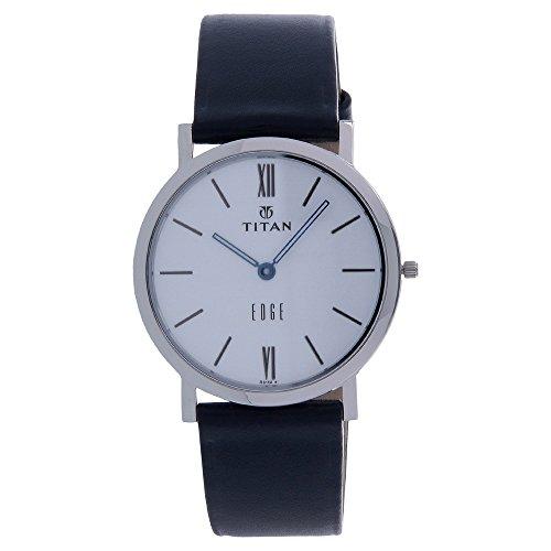 Titan Men's Edge Mineral Quartz Glass Slim Analog Wrist Watch- Ultra Slim Watch with Metal/ Leather (Titan Edge)