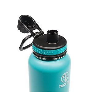 Takeya Originals Insulated Stainless Steel Water Bottle, 32 oz, Ocean