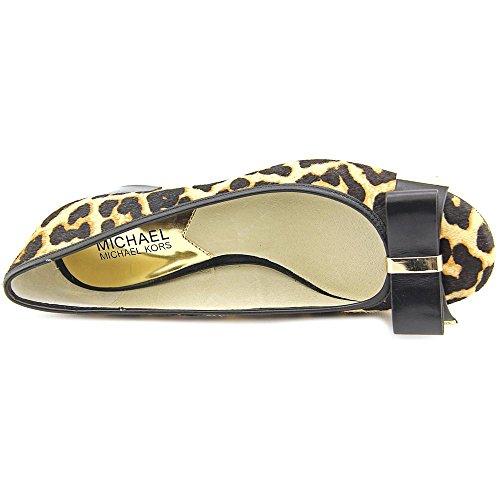 MICHAEL Michael Kors Womens Kiera Mid Pump Natural Cheetah Haircalf/Vachetta GgPXtmy