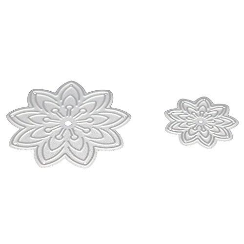 (UIFIDI Cutting Dies New Flower Heart Metal Stencils DIY Scrapbooking Album Paper Card)