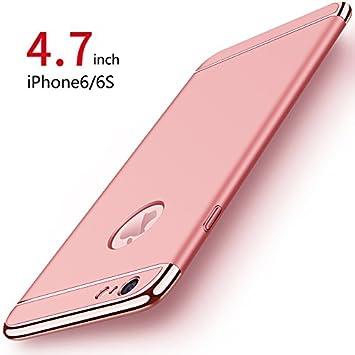 Funda iPhone 6/6s, PRO-ELEC Carcasa iPhone 6 / 6s con [ Protector de Pantalla de Vidrio Templado ] 3 en 1 Desmontable Ultra-Delgado Anti-Arañazos ...