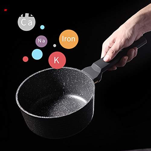 QWERASD 18Cm Cast Iron Milk Soup Pot Nonstick Baby Food Supplement Pot Multi-Function Omelette/Porridge Pot Electric Fire Universal