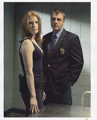 CHRIS NOTH/ALICIA WITT/LAW AND ORDER CRIMINAL INTENT/8X10 COPY PHOTO BB3352