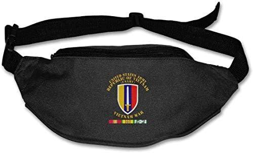 米軍ベトナムUsarvベトナム戦争W Svcユニセックス屋外ファニーパックバッグベルトバッグスポーツウエストパック