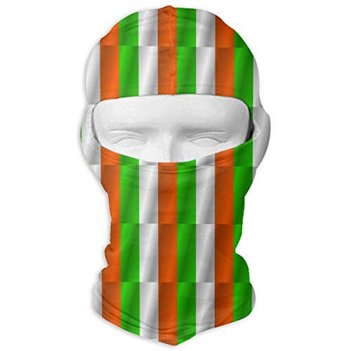 Windproof Balaclava, Flag of Ireland Porch for Cycling Skiing White]()
