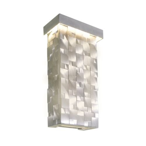 Maxim Lighting 88283 Mosaic Wall Sconce, Brushed Aluminum Finish, 7 by 12.5-Inch (Wall Zoo Sconce)