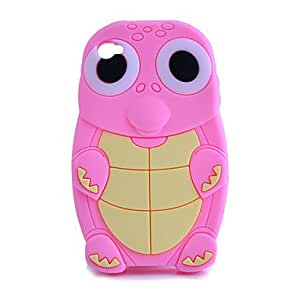 Silicon Cartoon Turtle Pattern Soft Case for iPhone 4/4S , White