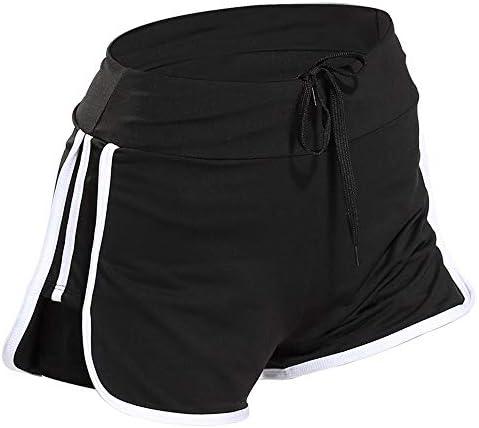 レディースジャージ上下セット 女性ビキニトレーニング弾性ヨガ女性フィットネスショーツ (色 : ブラック, サイズ : XL)