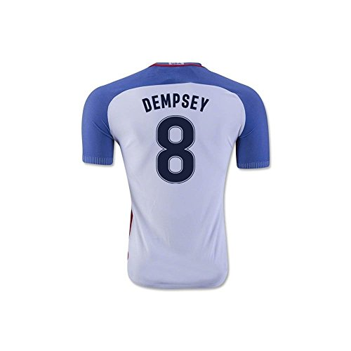 Dempsey Jersey - Dempsey #8 2016/2017 USA National Home Jersey and Shorts for Kids/Youth (7-8 Years Old)