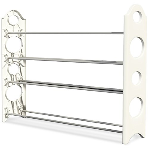 Shoe Rack Organizer -Store up to 20 Pairs in Your Closet Cabinet or Entryway - Easy to Assemble - No Tools Required