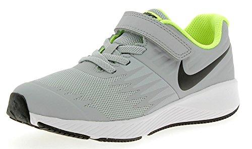 Nike Boys' Star Runner (PSV) Running Shoes Multicolour (Wolf Grey/Black-volt 002)
