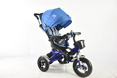 41b680614ce G4RCE® 4 in 1 Kids My First Trike Boys Girls Ride On Bike Parent Handle  Push Along 3 Wheeler Tricycle UK (Blue)