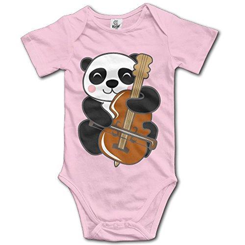 (Unisex Baby's Climbing Clothes Set Panda Bodysuits Romper Short Sleeved Light Onesies for 0-24)