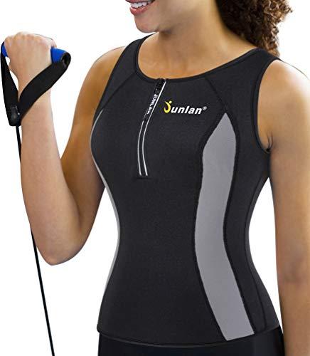 - Woman Neoprene Sauna Shirts Yoga Clothing Running Wear Weight Loss Tanks Tops Wicking Active Compression Undershirt (XL (16-18), Sauna Tank Top)