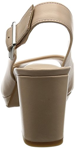 Clarks Kelda Spring, Sandalias con Cuña para Mujer Beige (Nude Leather)