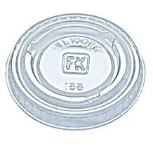 Fabri-Kal Portion Cup Lids, Fit 0.75-1 oz Portion Cups, Clear, 2500/Carton