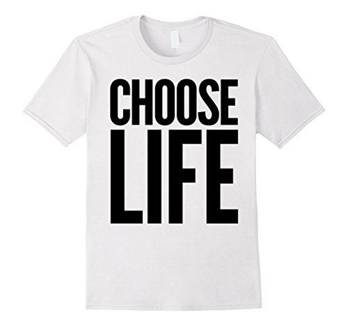 Mens Choose Life Wham! Slogan T-shirt