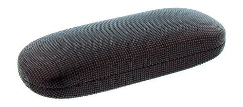 Hard Eyeglass Case For Men Women, Small Glasses Case, Diamond Checkered, Burgundy