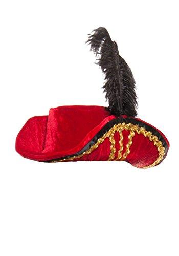 Starline Women's Midnight Pirate Hat, Red, One Size