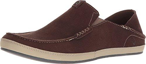 - OLUKAI Men's Kauwela Casual Shoes, Dark Wood/Silt, 14 D (M) US