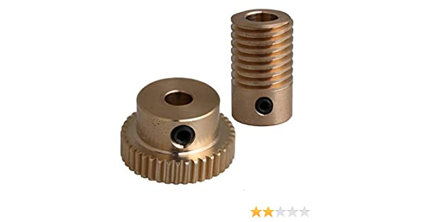 2 X 5mm Bore Hole 60 Teeth 60T Module 0.5 Motor Metal Gear Wheel with Top Screws