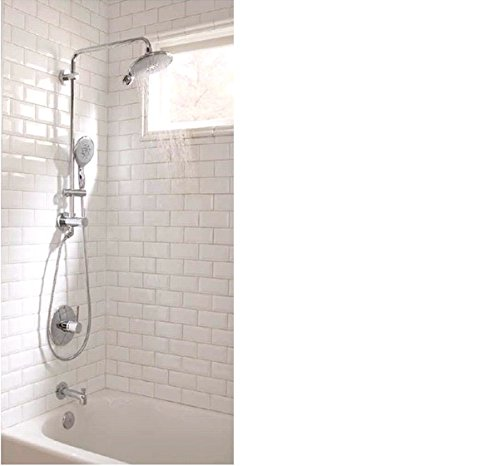 Powerandsoul 25 In. Retro-Fit 2-Function Hand Shower and Showerhead ...