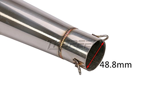 PACEWALKER Universal Stainelss Steel GP 38-51mm Slip-On Type Exhaust Muffler Pipe & Removable DB Killer for 125-1000CC Motorcycle & Scooter by PACEWALKER (Image #4)