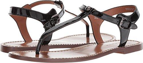 Coach Women's T-Strap Sandal Black Patent Leather 5 M US