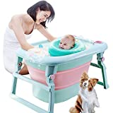 3-in-1 Baby Bath Tub Portable Toddler Collapsible Bathtub Infant Shower Basin Anti Slip Skid Proof for 0-10 Years