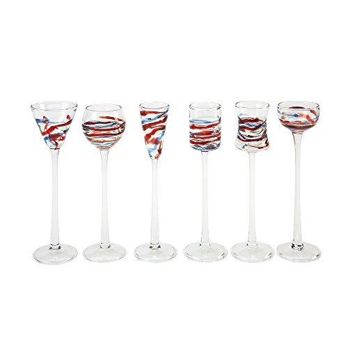 IMPULSE Asti Cordials (Set of 6), Multicolor (Cordial Colored Glasses)
