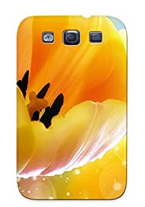 Crazinesswith Protection Case For Galaxy S3 / Case Cover For Christmas Day Gift(orange Tulips)