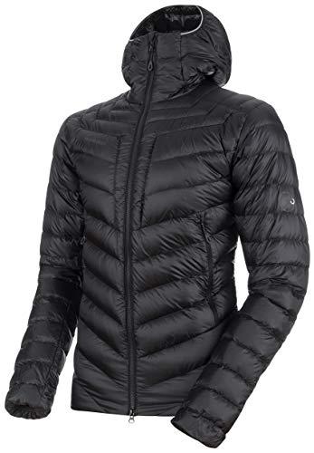 (Mammut Broad Peak in Hooded Jacket - Men's Black/Phantom Large)