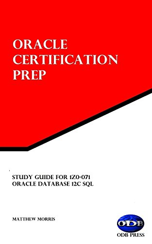 Amazon.com: Study Guide for 1Z0-071: Oracle Database 12c SQL: Oracle ...