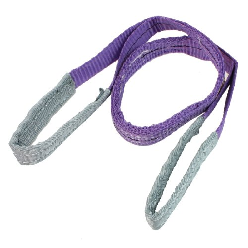 1M Length 25mm Width Eye to Eye Nylon Web Lifting Tow Strap Purple