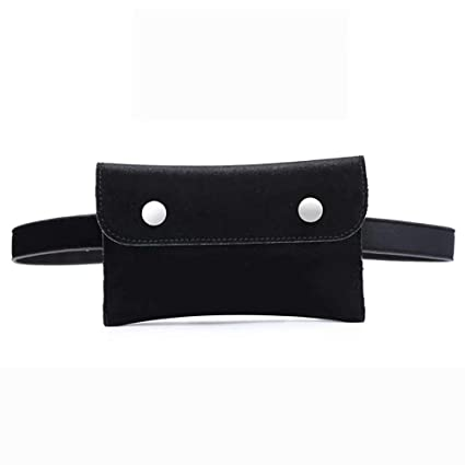 0674e93b466a Image Unavailable. Image not available for. Color: Hotpaint Women Fashion  Quilted Vegan Fanny Pack,Black Waist Bag ...