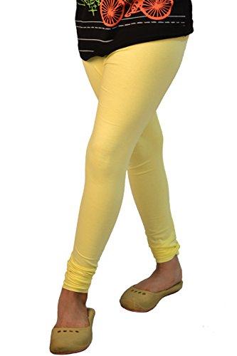 - Lady Line Plain Colours 4-Way Stretch Cotton Lycra Leggings Long Soft Yoga Pants Tights Churidar
