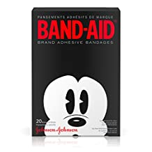 Band-Aid Brand Adhesive Bandages, Adult Mickey, 20 Count